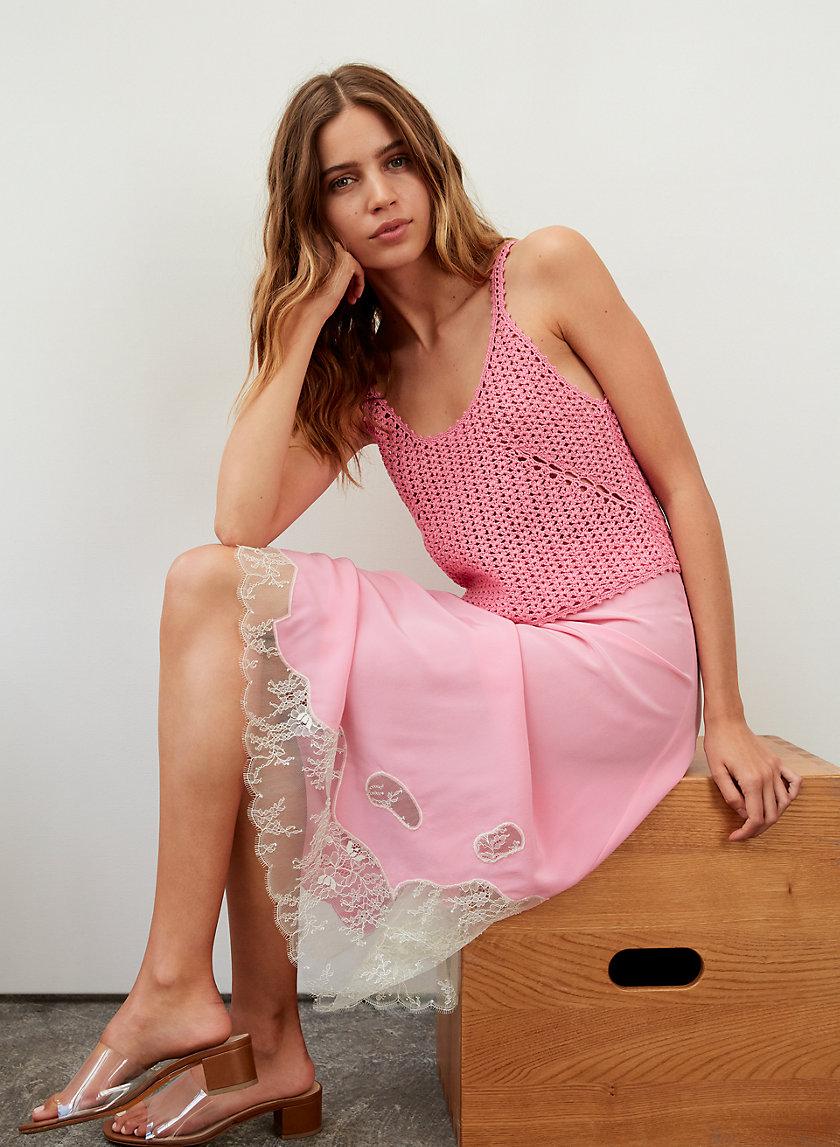 JESSIME SKIRT - Silk slip skirt