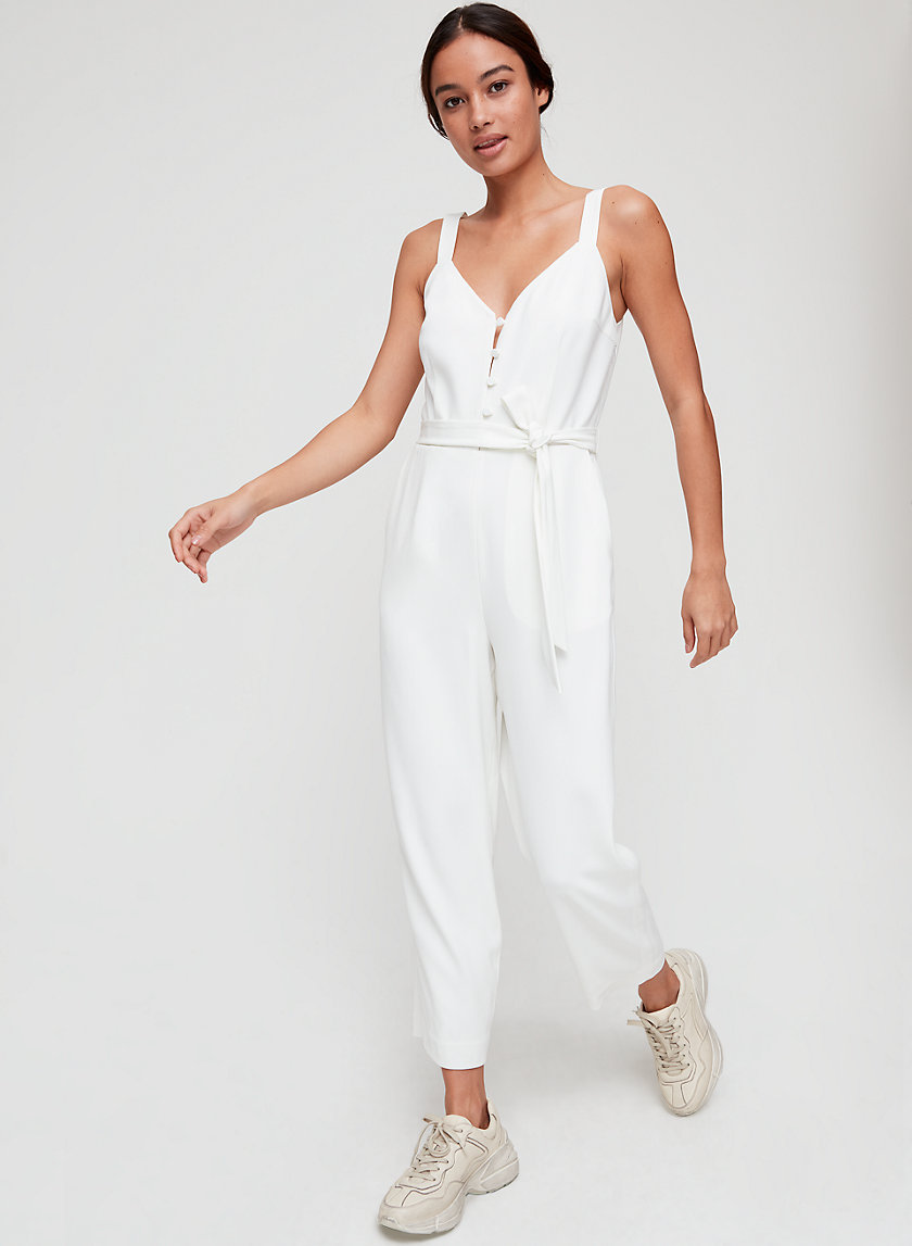 PETUNIA JUMPSUIT - Fitted, belted jumpsuit