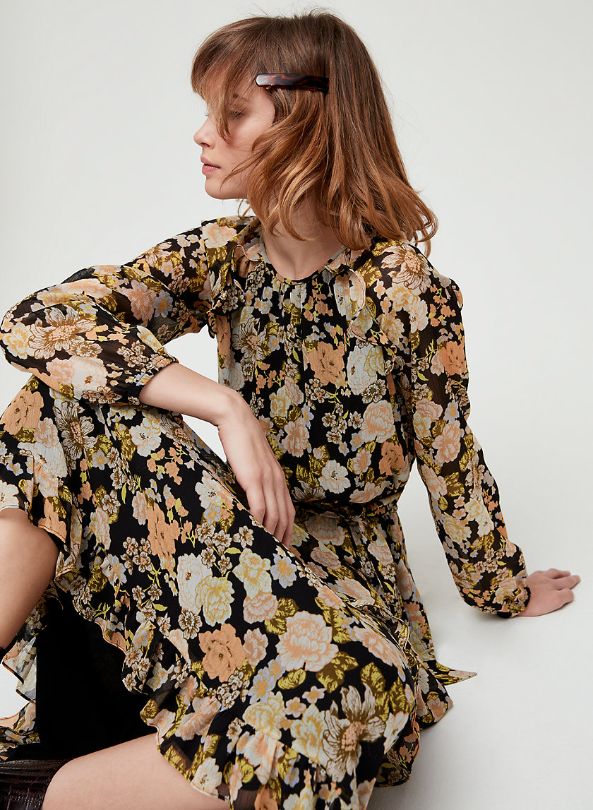 VERBENNA DRESS - Peasant, floral maxi dress
