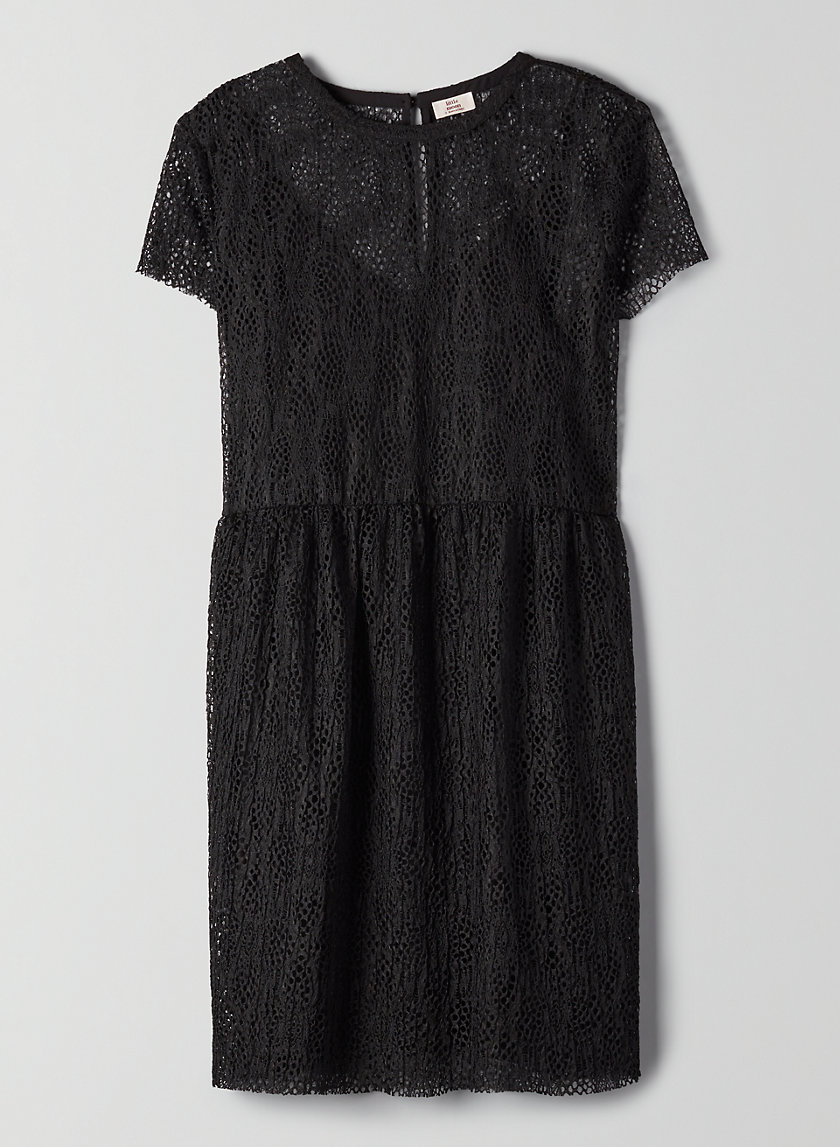 OLIVE DRESS - Lace shift dress
