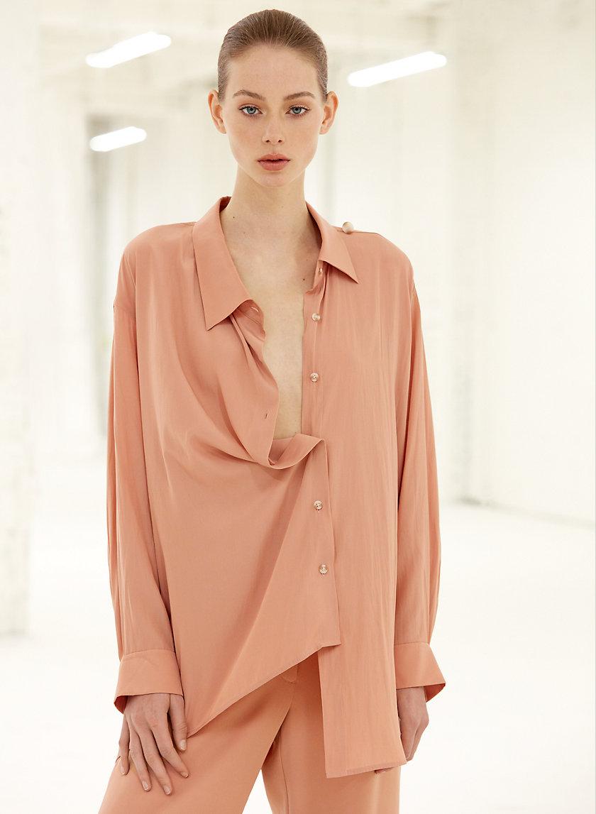 ATHENA BLOUSE - Asymmetrical, button-up blouse