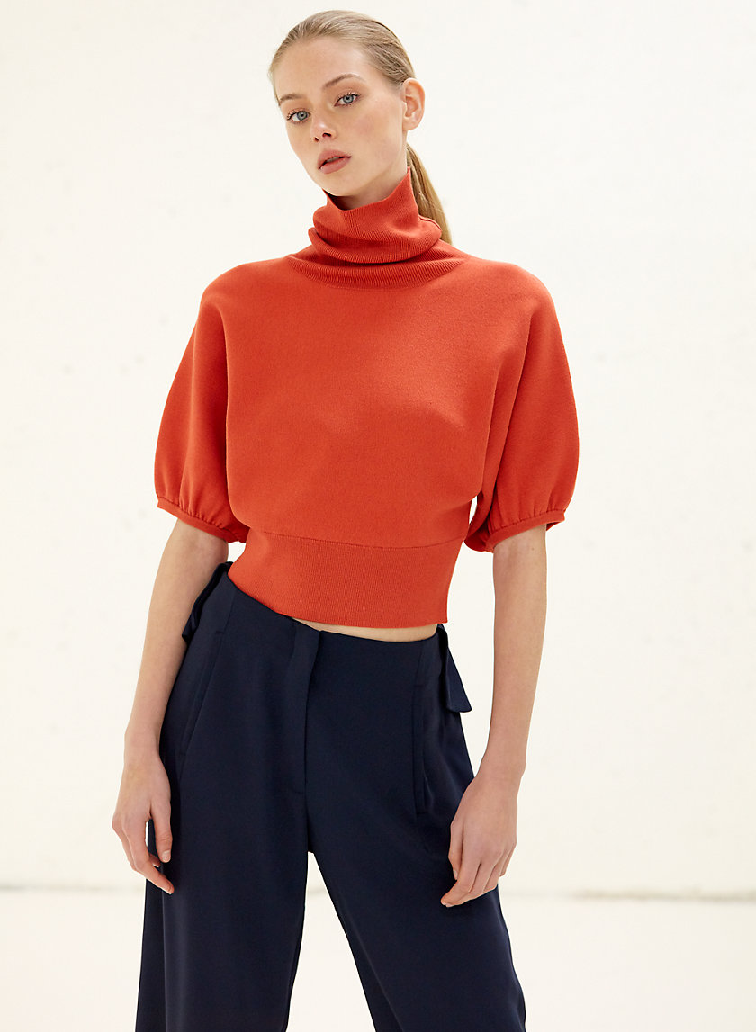 LIANA SWEATER - Cropped, turtleneck sweater