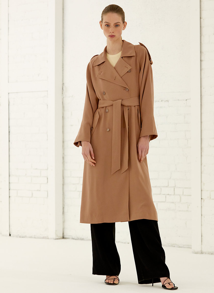 TAREK COAT - Double-breasted trench coat