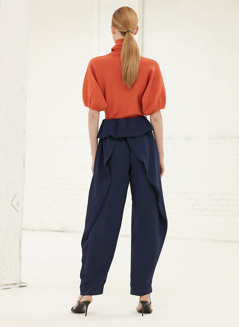 JEMIMA PANT - High-waisted, ruffled pant