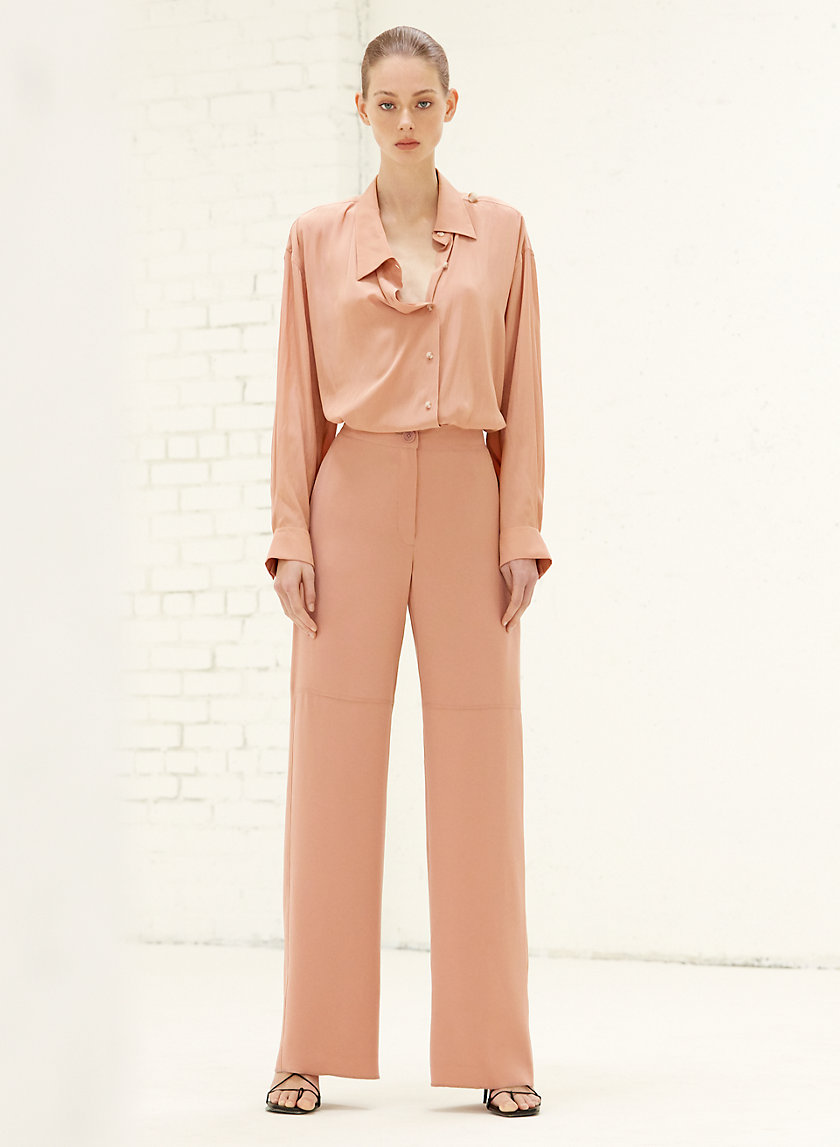 JAELYN PANT - High-waisted, wide-leg dress pant