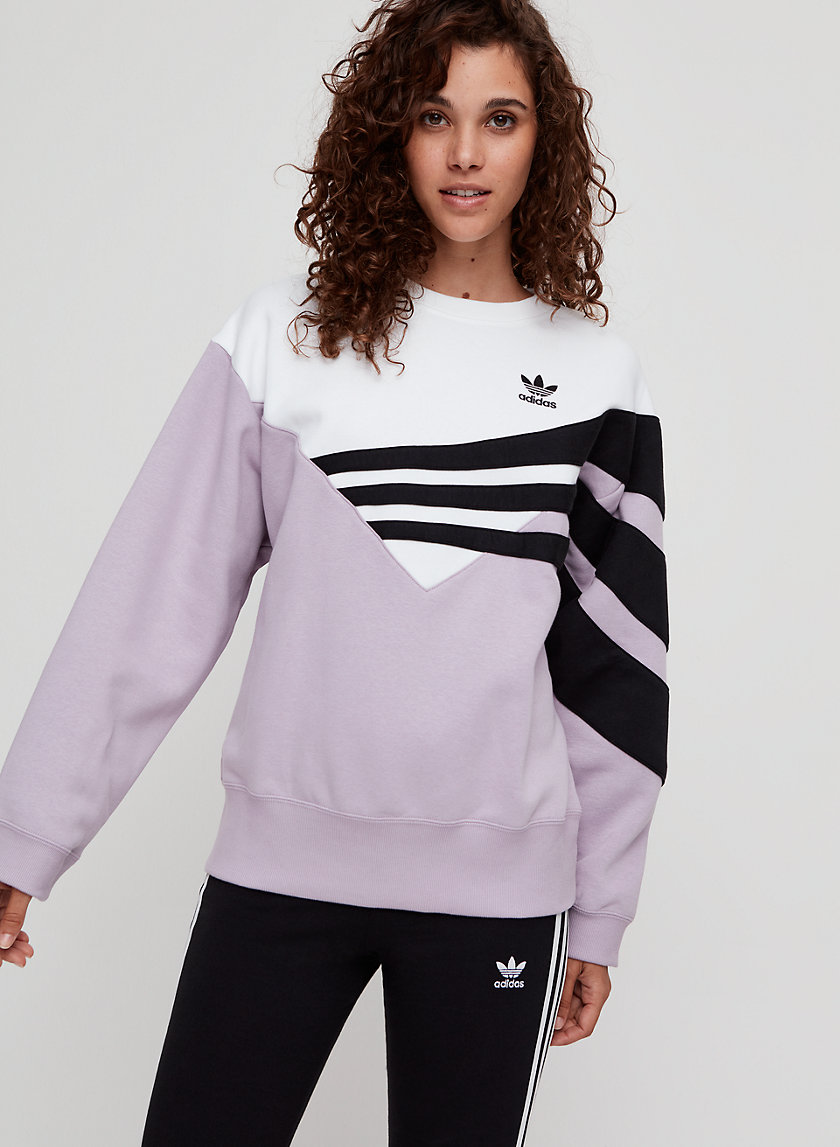 ADIDAS SWEATER - Retro-inspired crewneck sweatshirt