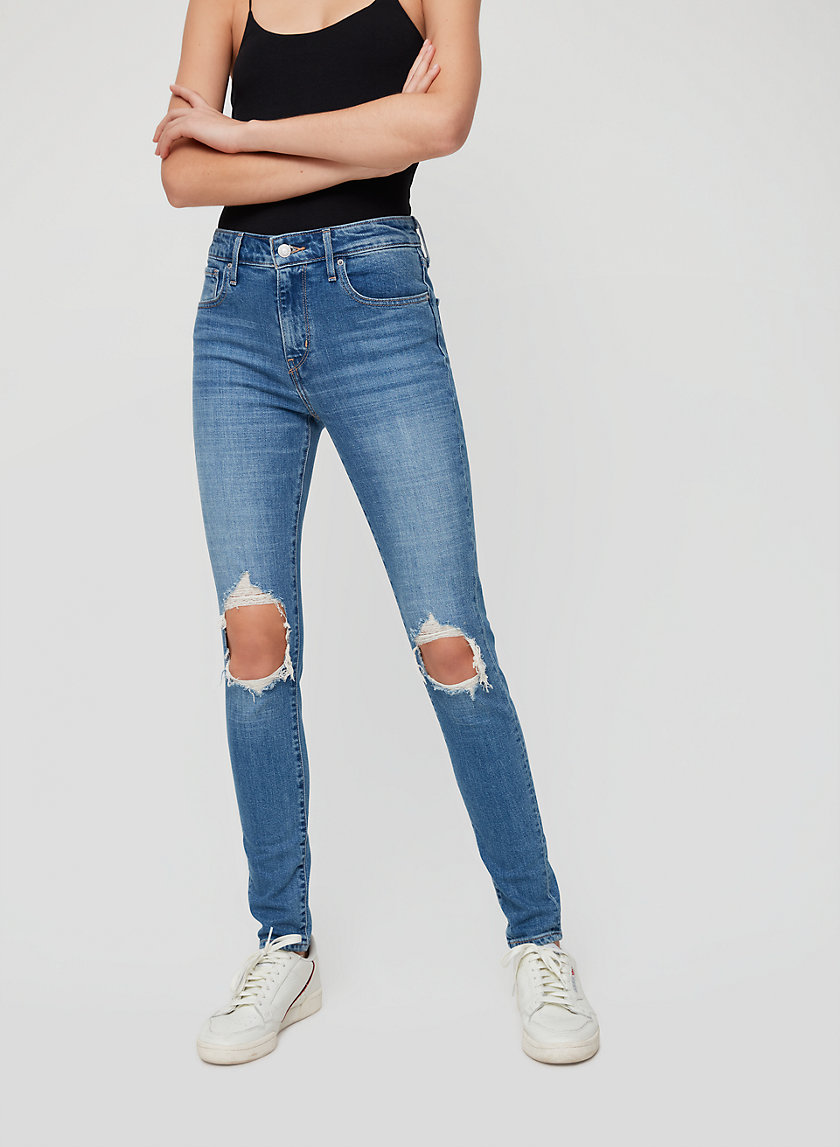 721 SKINNY - High-waisted, ripped skinny jean