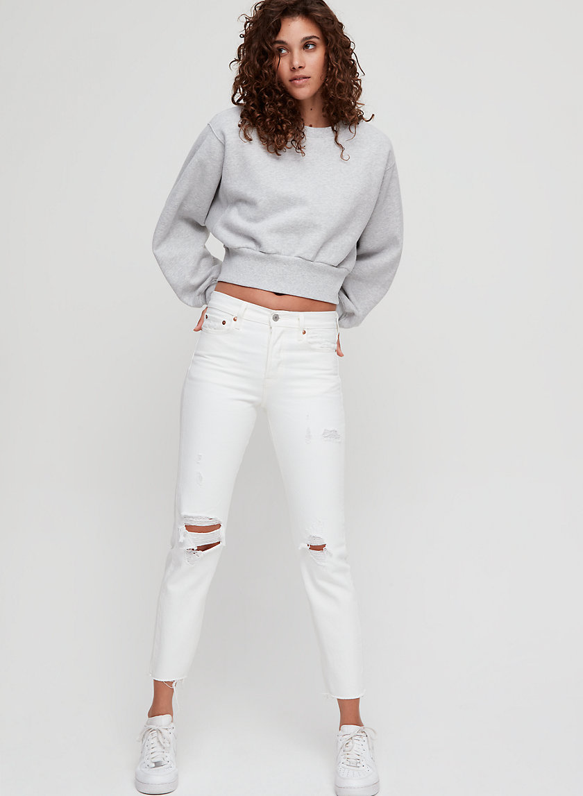 WEDGIE ICON - High-waisted, ripped jean