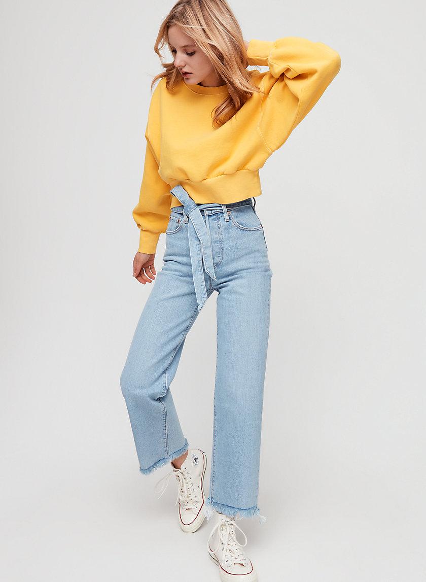RIBCAGE - High-waisted, straight-leg jean
