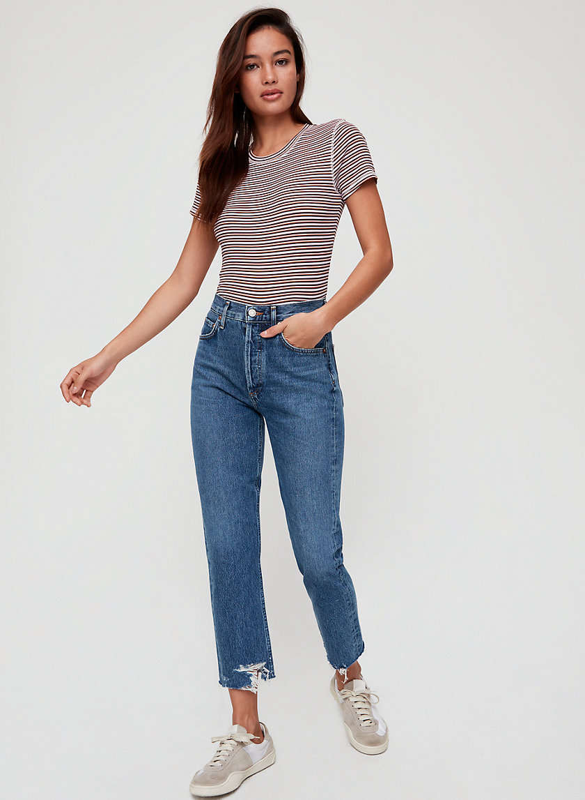 RILEY VETO - High-waisted, straight-leg jean