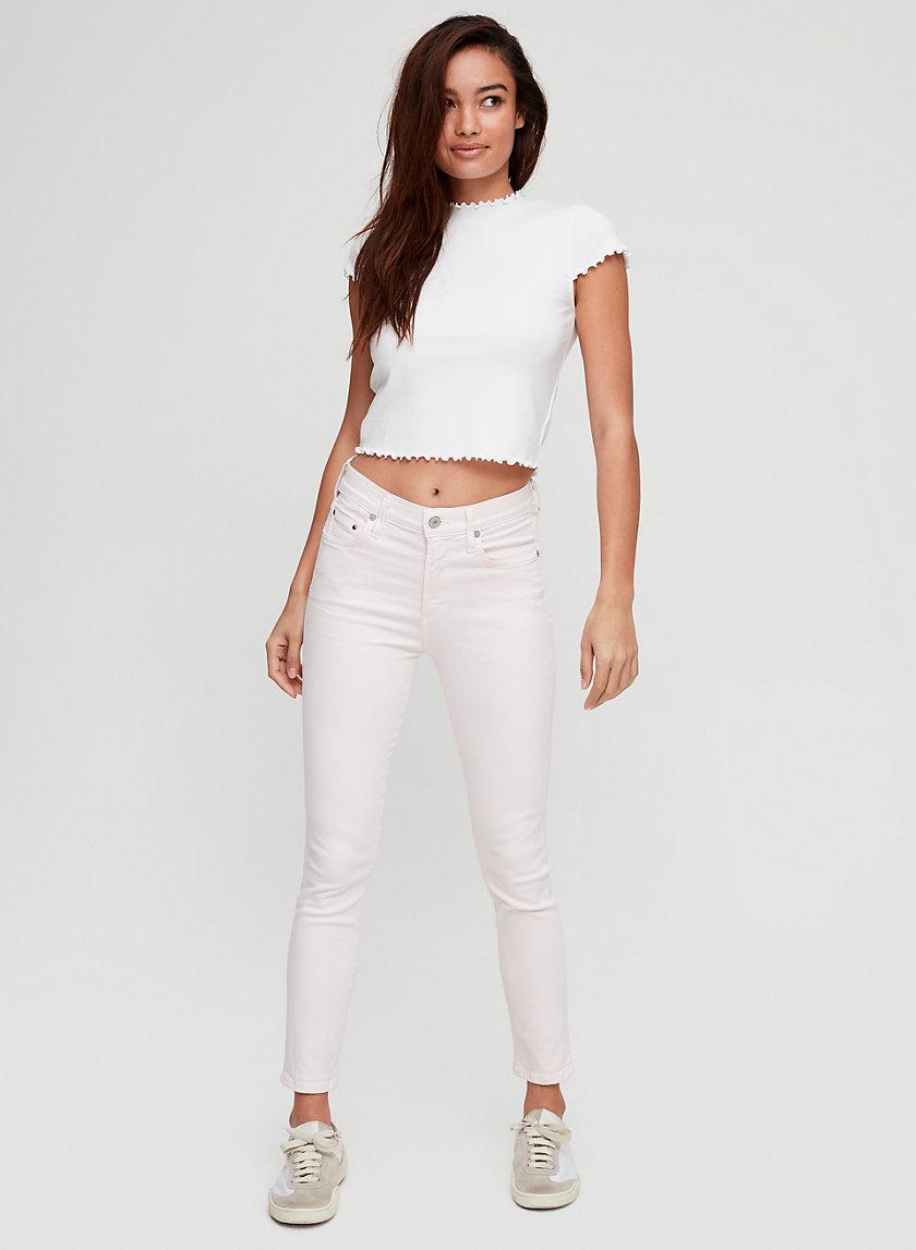 ROCKET CROP ROSEWATER - Cropped skinny jean