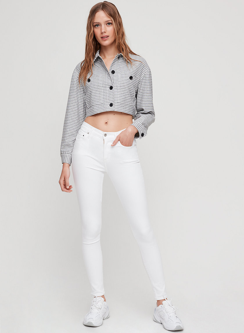 ROCKET WHITE - High-waisted, skinny jean