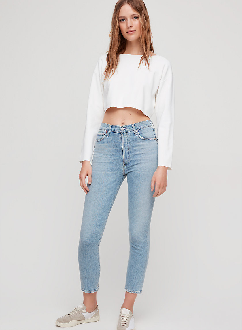 OLIVIA CROP RENEW - Cropped, high-waisted jean