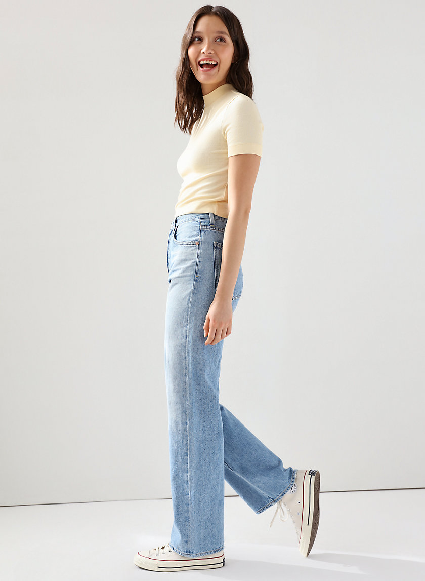 ANNINA TULAROSA - High-waisted wide-leg jean