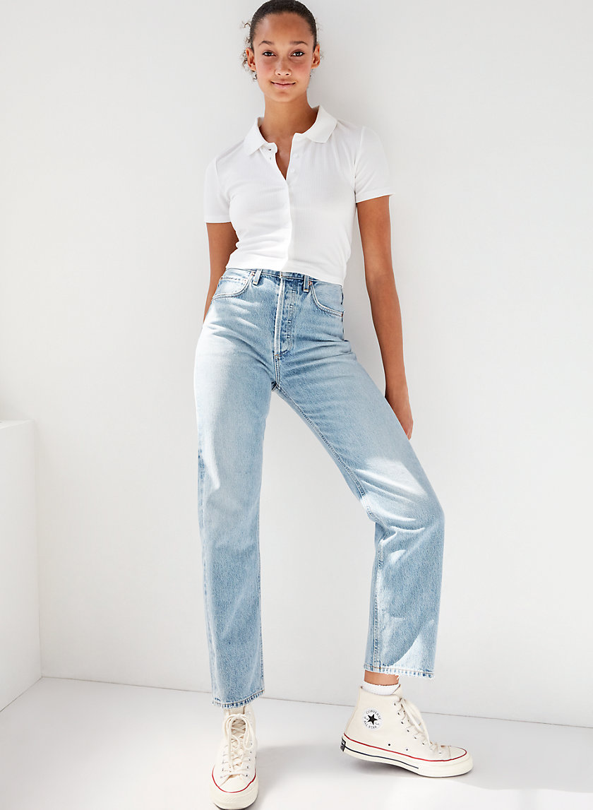 '90S JEAN AFFAIR - High-waisted boyfriend jeans