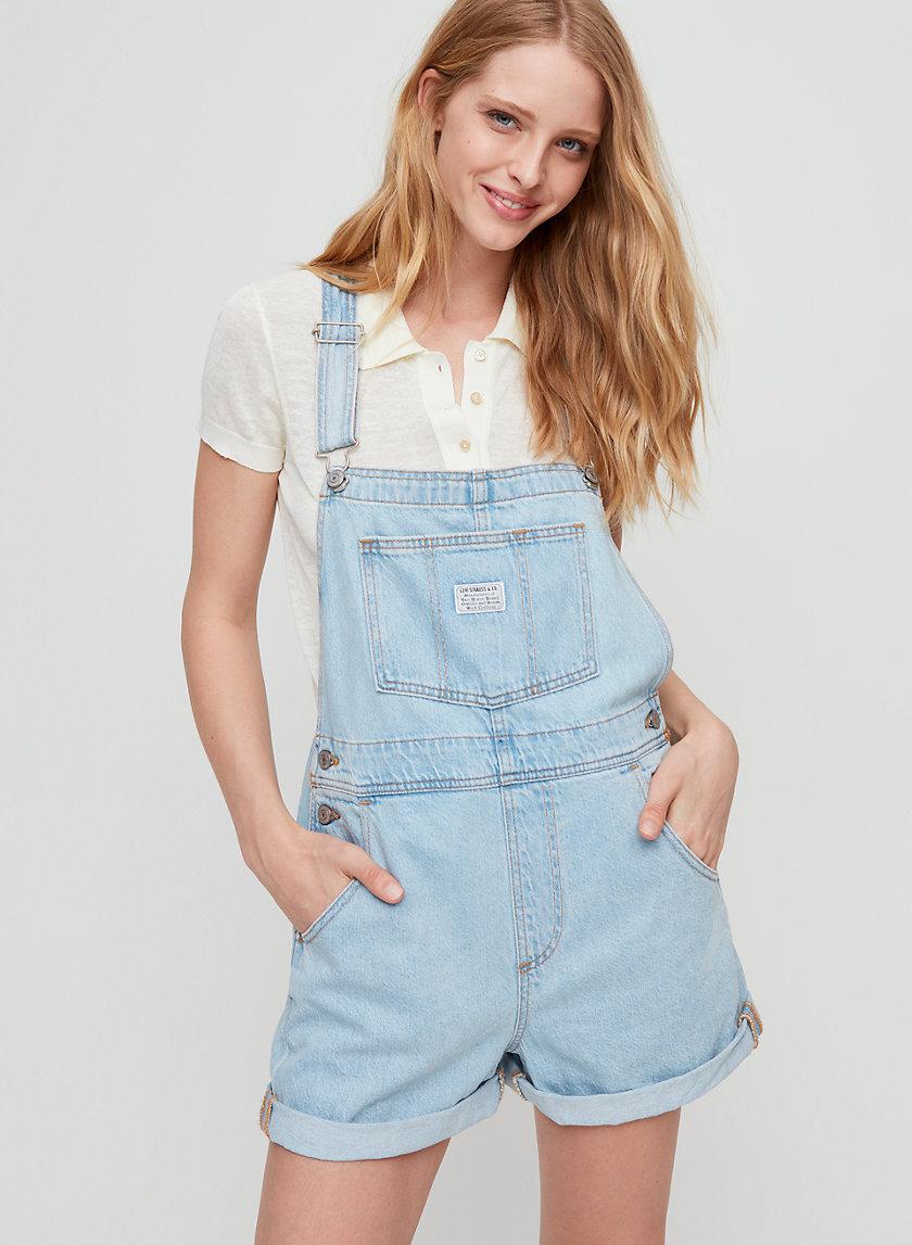 VINTAGE SHORTALL - Denim short overalls