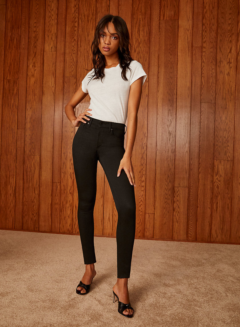 THE NICO MID RISE SKINNY 26L - Mid-rise, skinny crop Nico jean