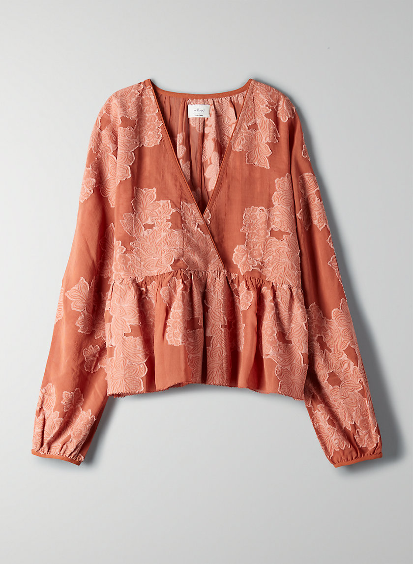 PEPLUM BLOUSE - Cropped, peplum blouse