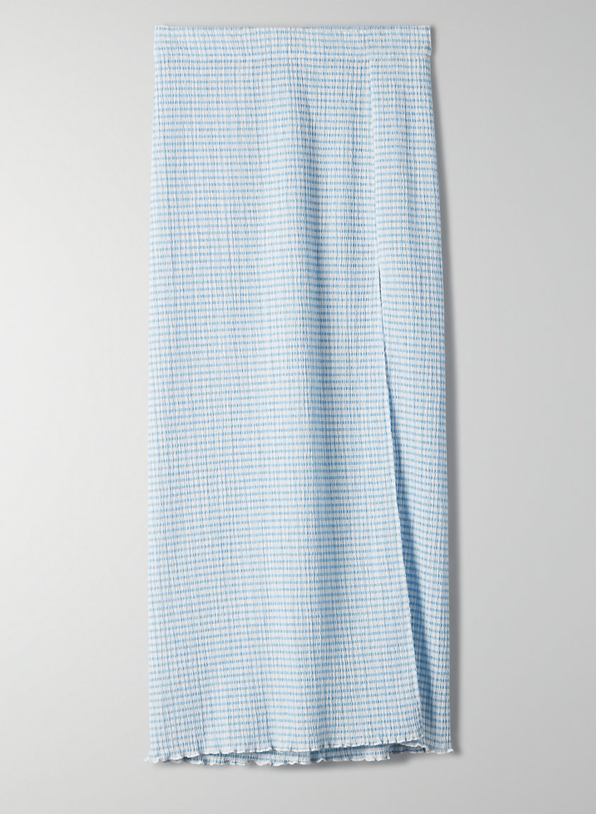 VERONA SKIRT - Seersucker slit skirt