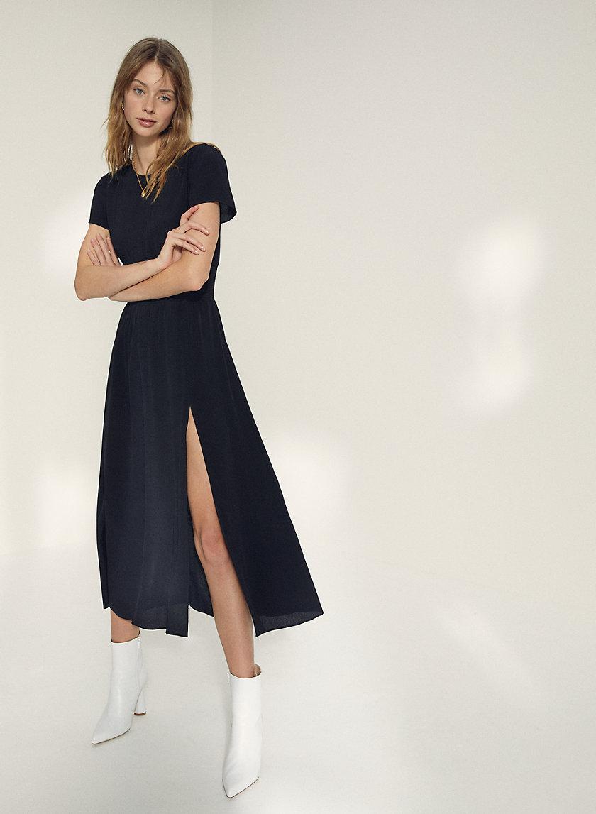 MAXIME DRESS - Slit maxi dress
