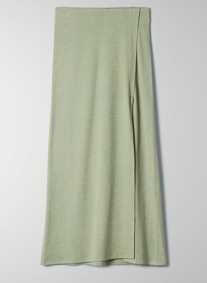 NEW SHIELDS SKIRT - High-rise midi slit skirt