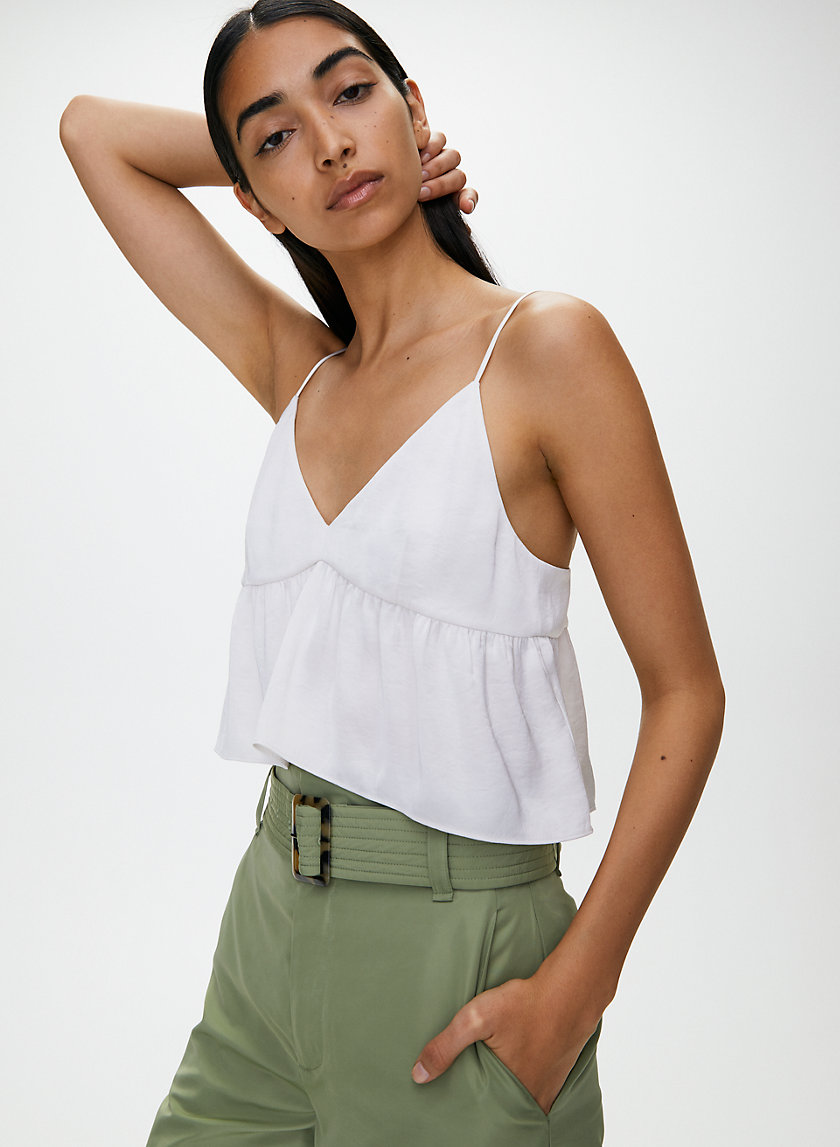 LOVER CAMISOLE - Cropped, satin camisole