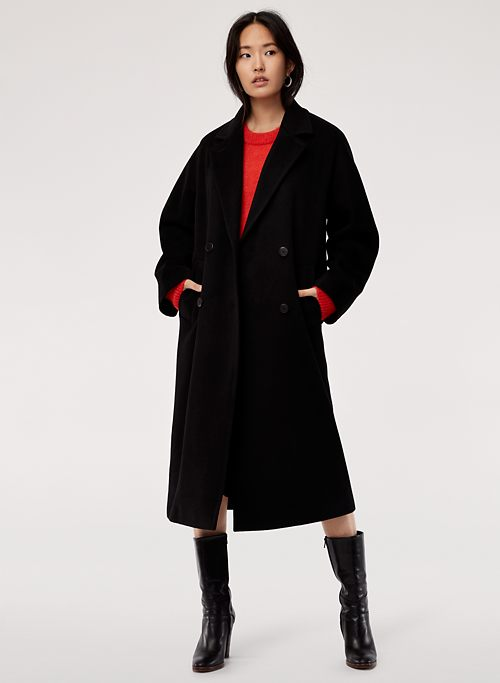 a3d94bd43 SLOUCH WOOL COAT - Oversized, double-breasted coat