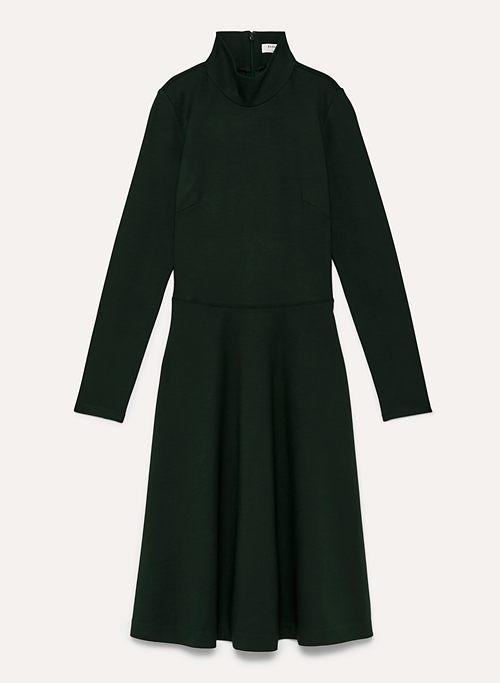 MARC DRESS - Mock-neck, ponte midi dress