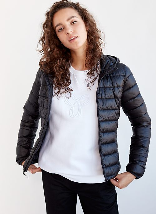 a291c4dfec303 BOTANIE VEGAN PUFFER - Packable, vegan, slim fit puffer jacket