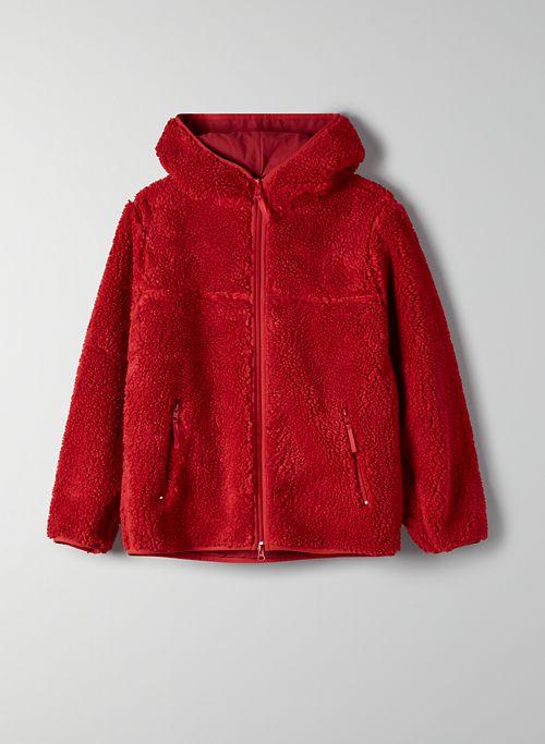 SHERPA FLEECE HOODIE - Hooded sherpa jacket