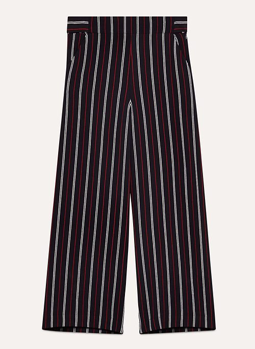 FAUN PANT - High-waisted, pinstripe wide-leg pant