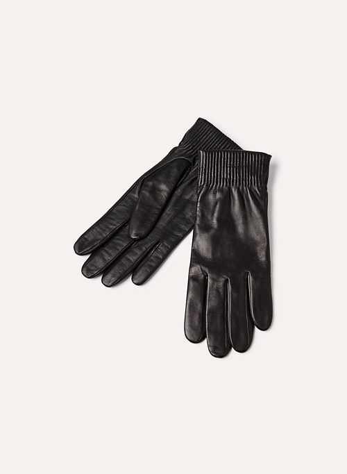 CUFFED LEATHER GLOVE | Aritzia