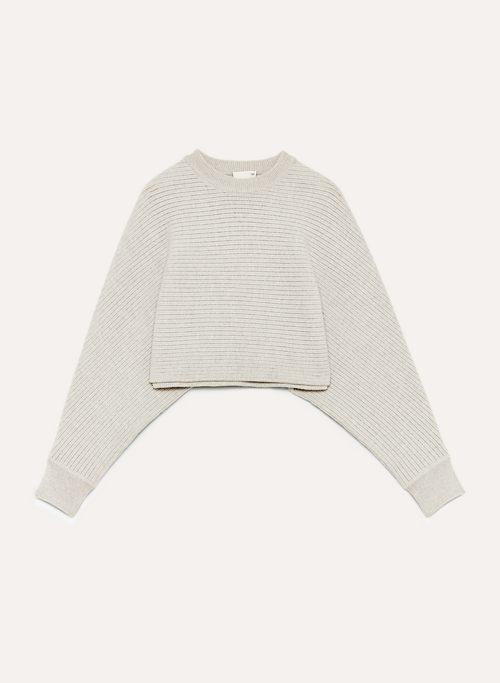 LOLAN SWEATER - Cropped, oversized, merino-wool sweater