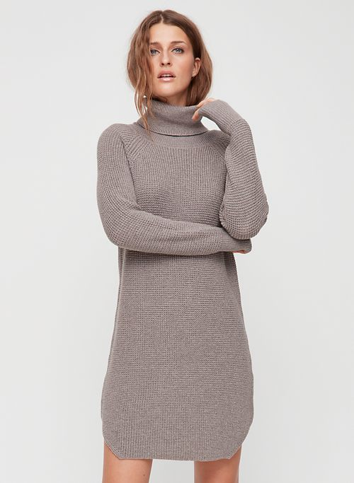 2633685ad90c57 BIANCA DRESS - Knitted, turtleneck sweater dress