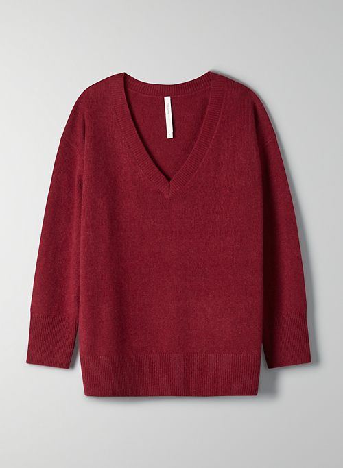 LUXE CASHMERE RELAXED V-NECK   Aritzia