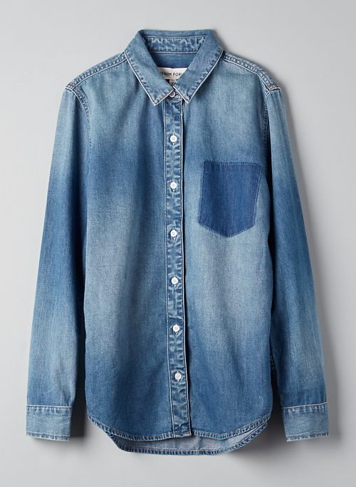 THE EX BOYFRIEND SHIRT - Button-down denim shirt