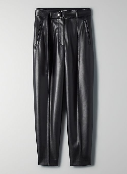 VEGAN LEATHER TROUSER PANT | Aritzia