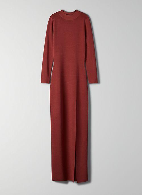MOCKNECK SLIT DRESS   Aritzia