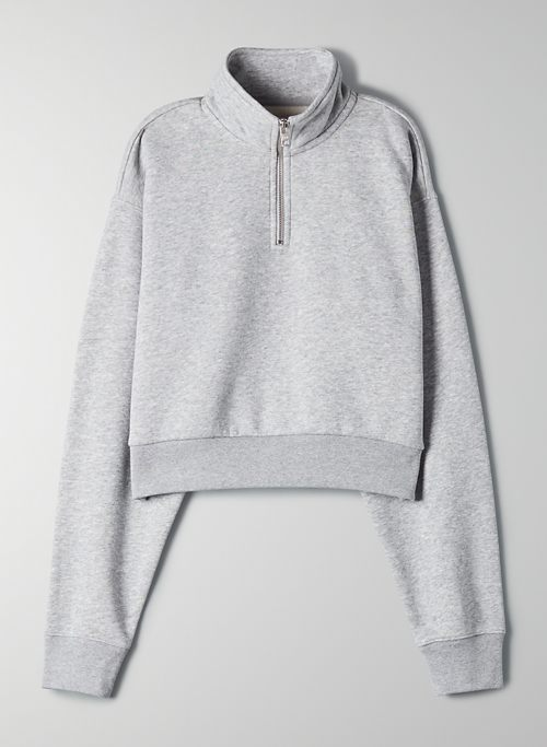 PERFECT 1/4 ZIP SWEATSHIRT | Aritzia