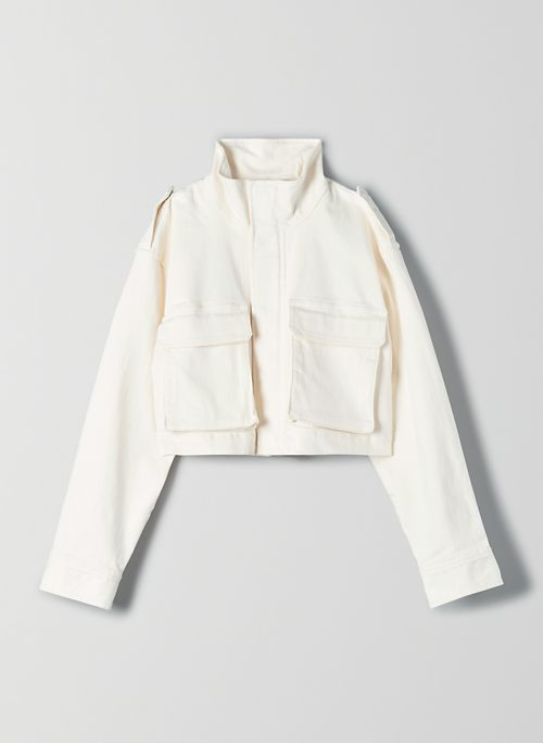 CROPPED WORKWEAR JACKET | Aritzia