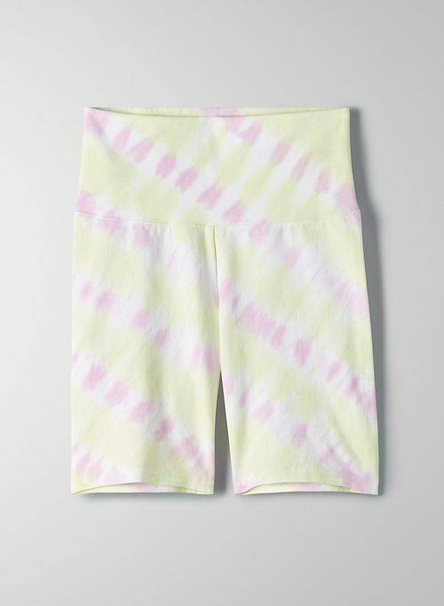 "ATMOSPHERE SHORT 7"" - High-waisted tie-dye bike shorts"