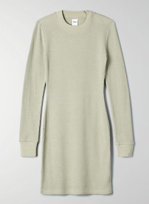 THERMAL DRESS - Waffle thermal mini dress