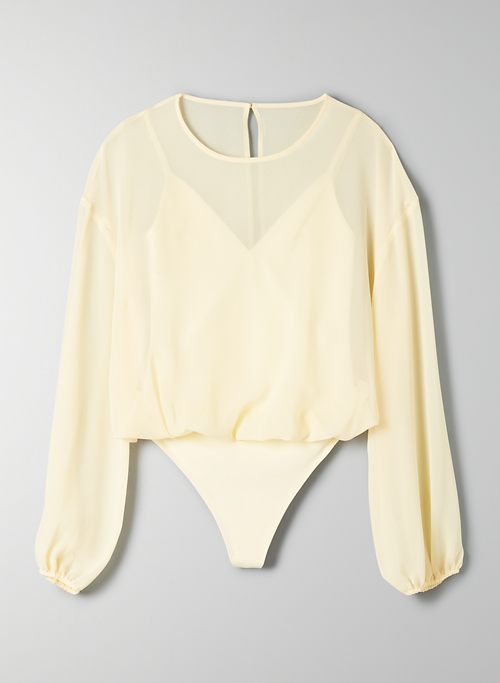BODYSUIT BLOUSE - Long-sleeve bodysuit blouse