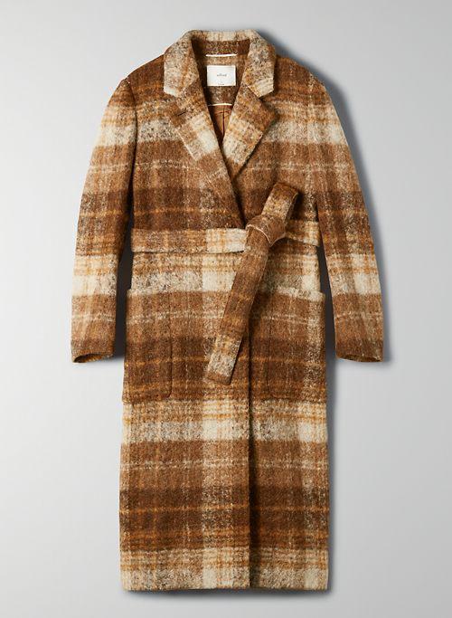 CARLYLE ALPACA COAT - Wool-alpaca blend checkered overcoat