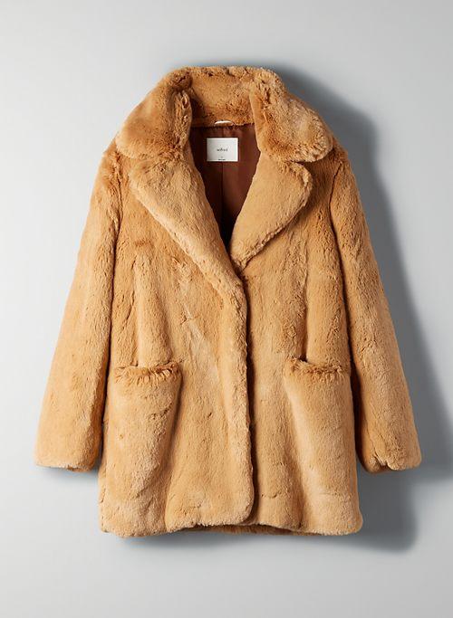 MUSE FAUX FUR COAT - Mid-length faux-fur coat