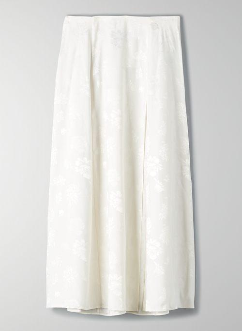 CHERIE SKIRT - Satin slit midi skirt