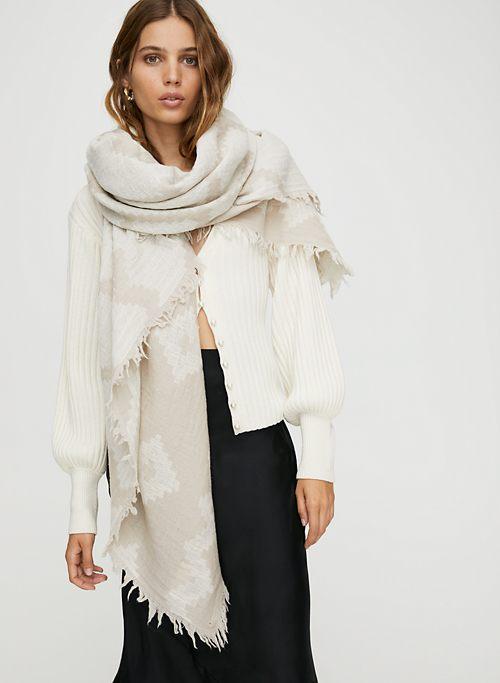781a10749 DIAMOND MOSAIC BLANKET SCARF - Patterned, wool blanket scarf