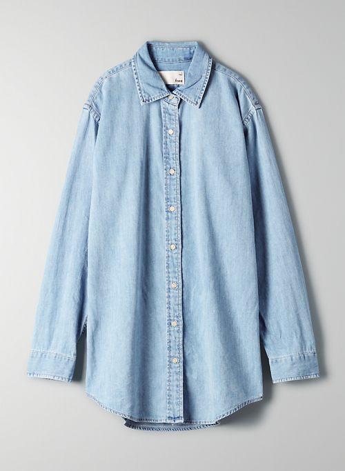 EMME OVERSHIRT - Button-up denim shirt