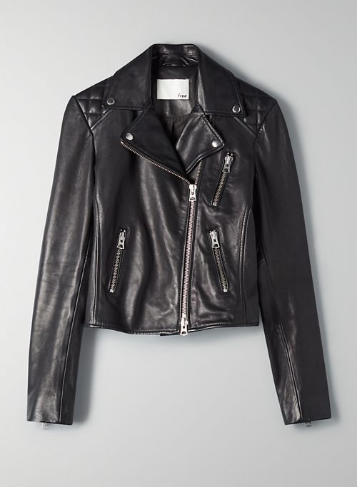 RICHARDS LEATHER BIKER | Aritzia