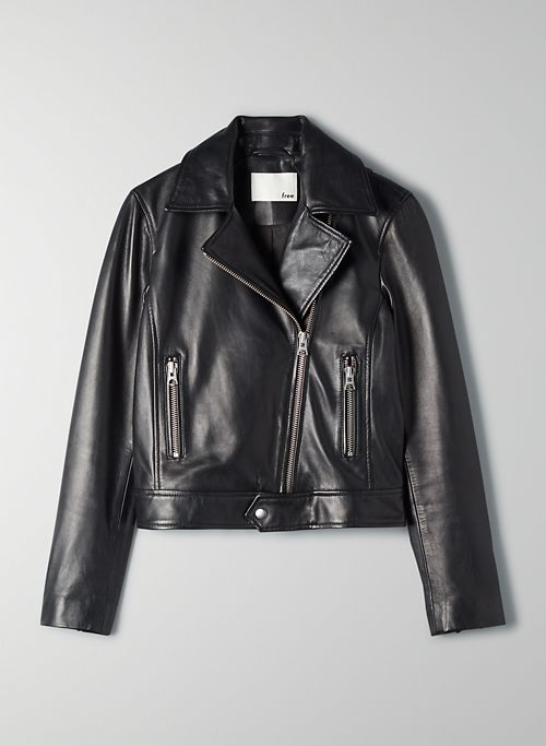 HENDRIX LEATHER BIKER | Aritzia
